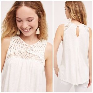 Anthropologie Akemi + Kin Gina Macrame Tank Top XS